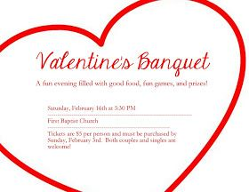 Valentine S Banquet Church Valentines Party Church Valentines