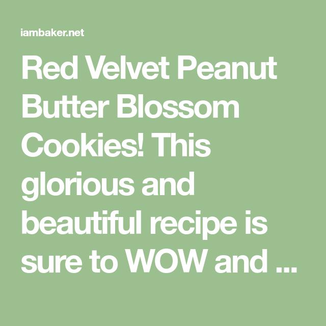 Red Velvet Peanut Butter Blossoms {VIDEO} | i am baker
