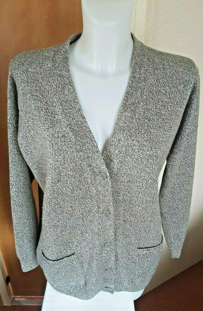 en gros images détaillées offres exclusives Damart Women's Cardigan Size 14/16 Grey Tweed Soft Warm Knit ...