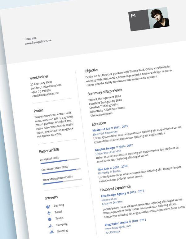 Free Modern Cv Template Psd  Free Psd Files    Modern