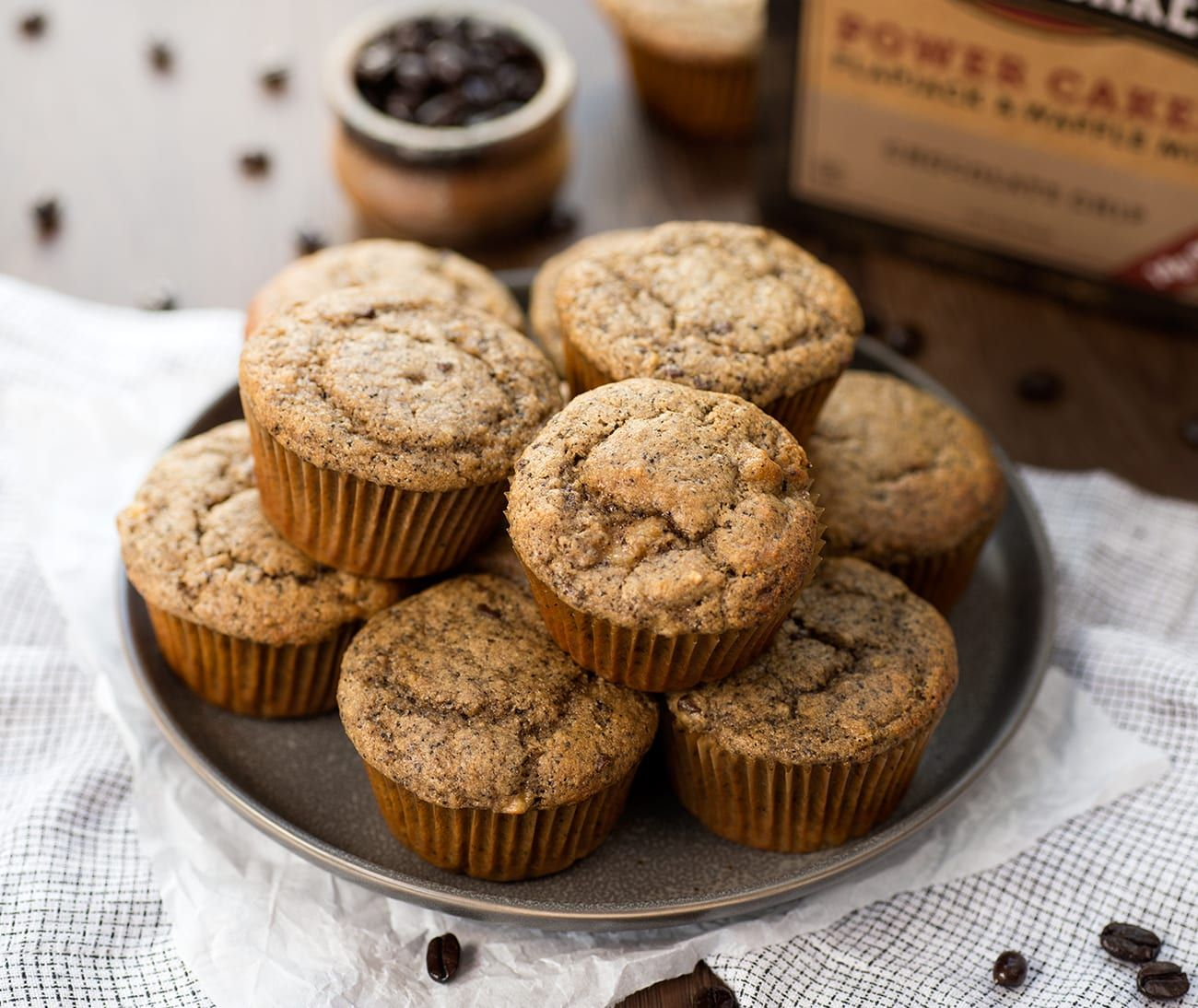 Chocolate Chip Coffee Cake Muffins Kodiak cakes, Coffee
