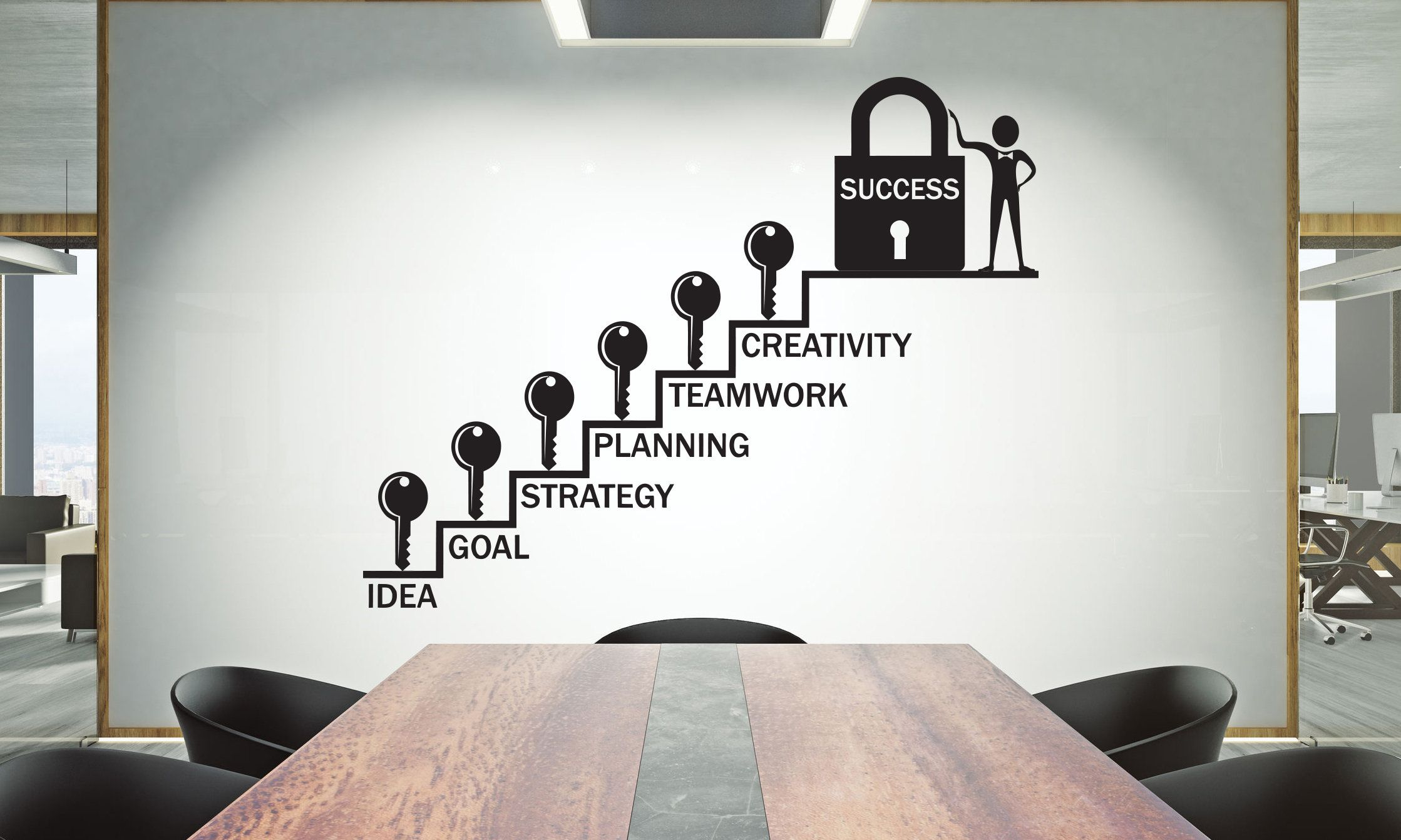Office Wall Decal Teamwork Quote Wall Sticker Office Decor Etsy