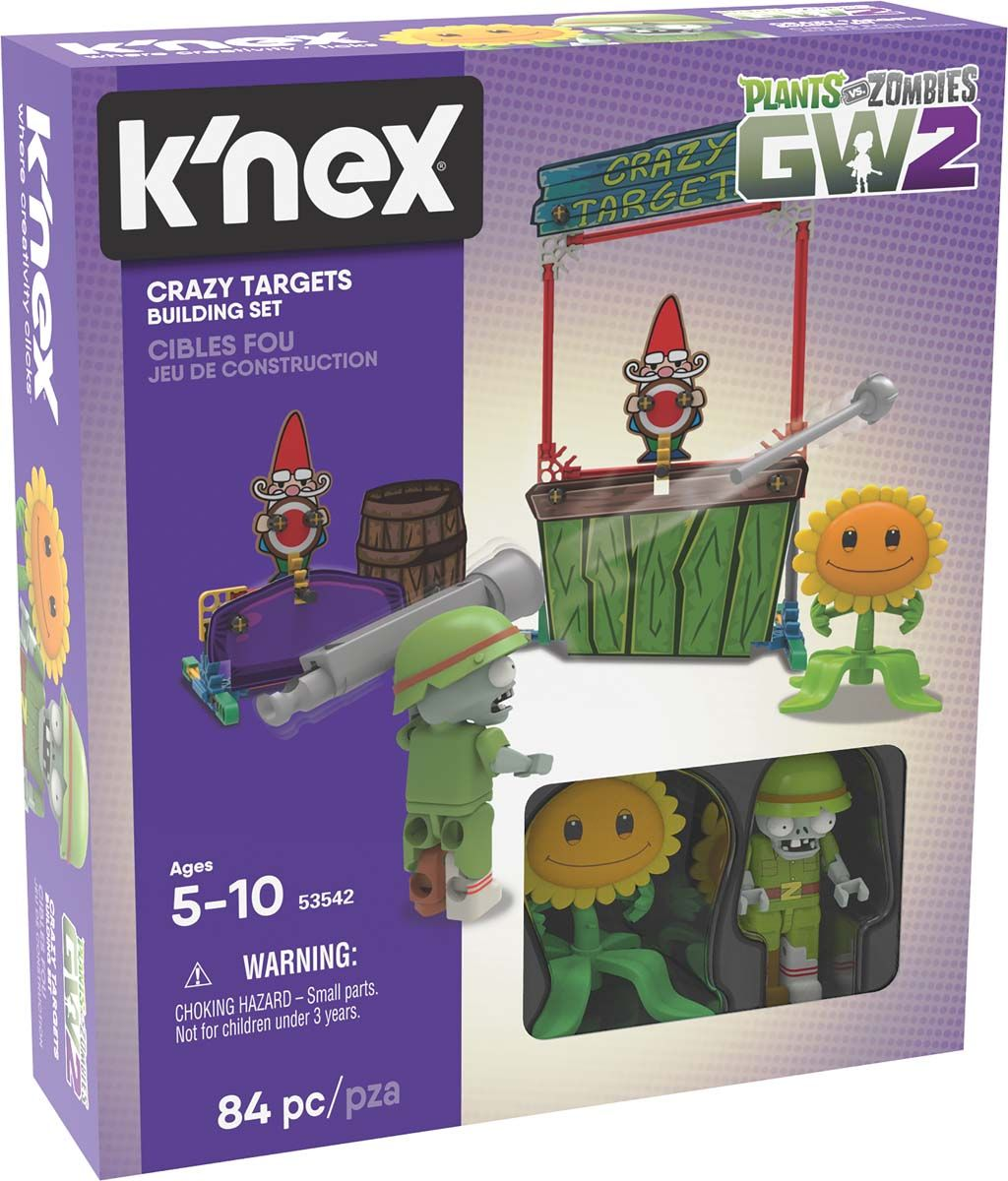 Get your kids into zombie action with the K'NEX Plants vs