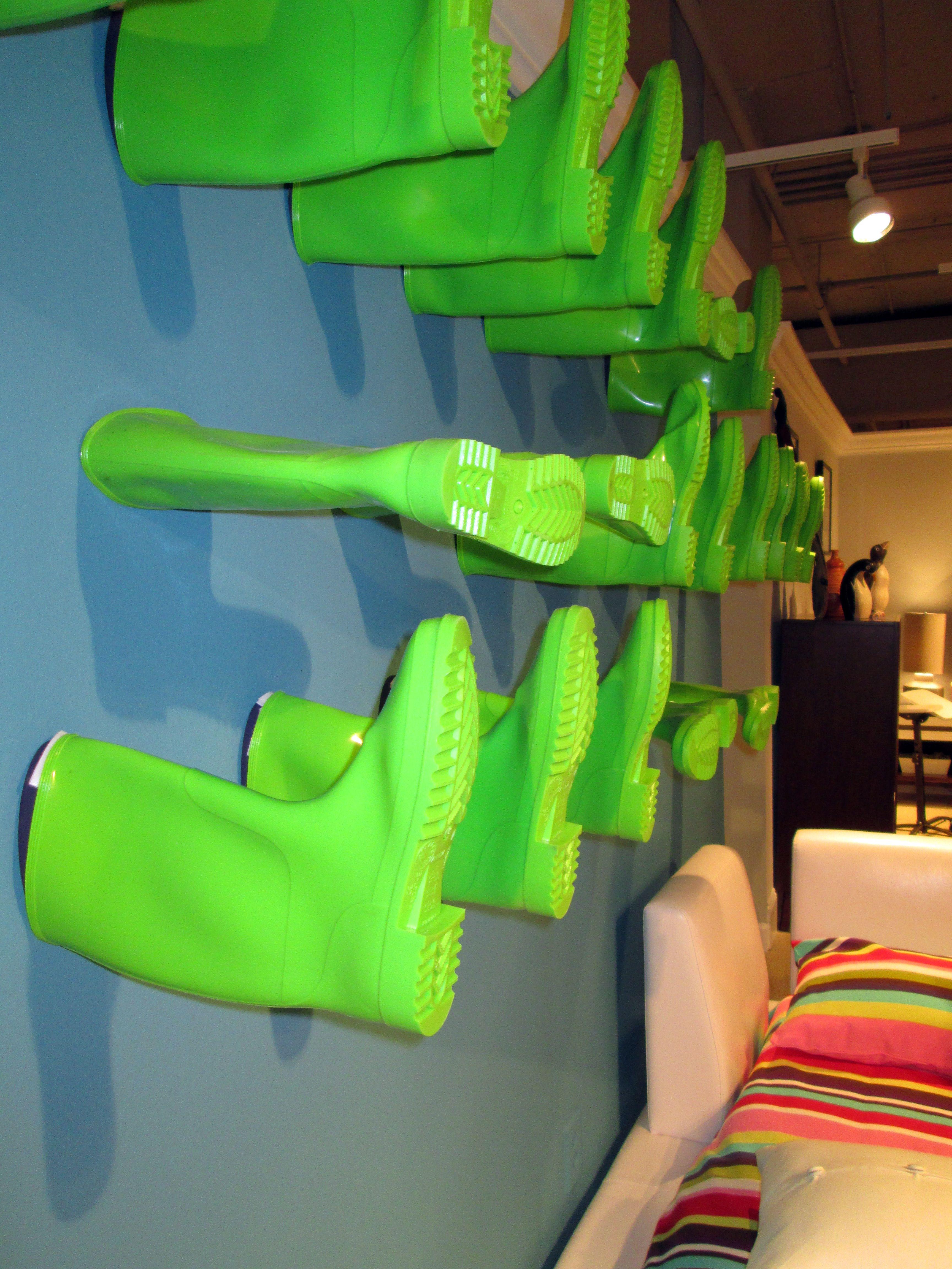 Rain boots as an art installment! #hpmkt