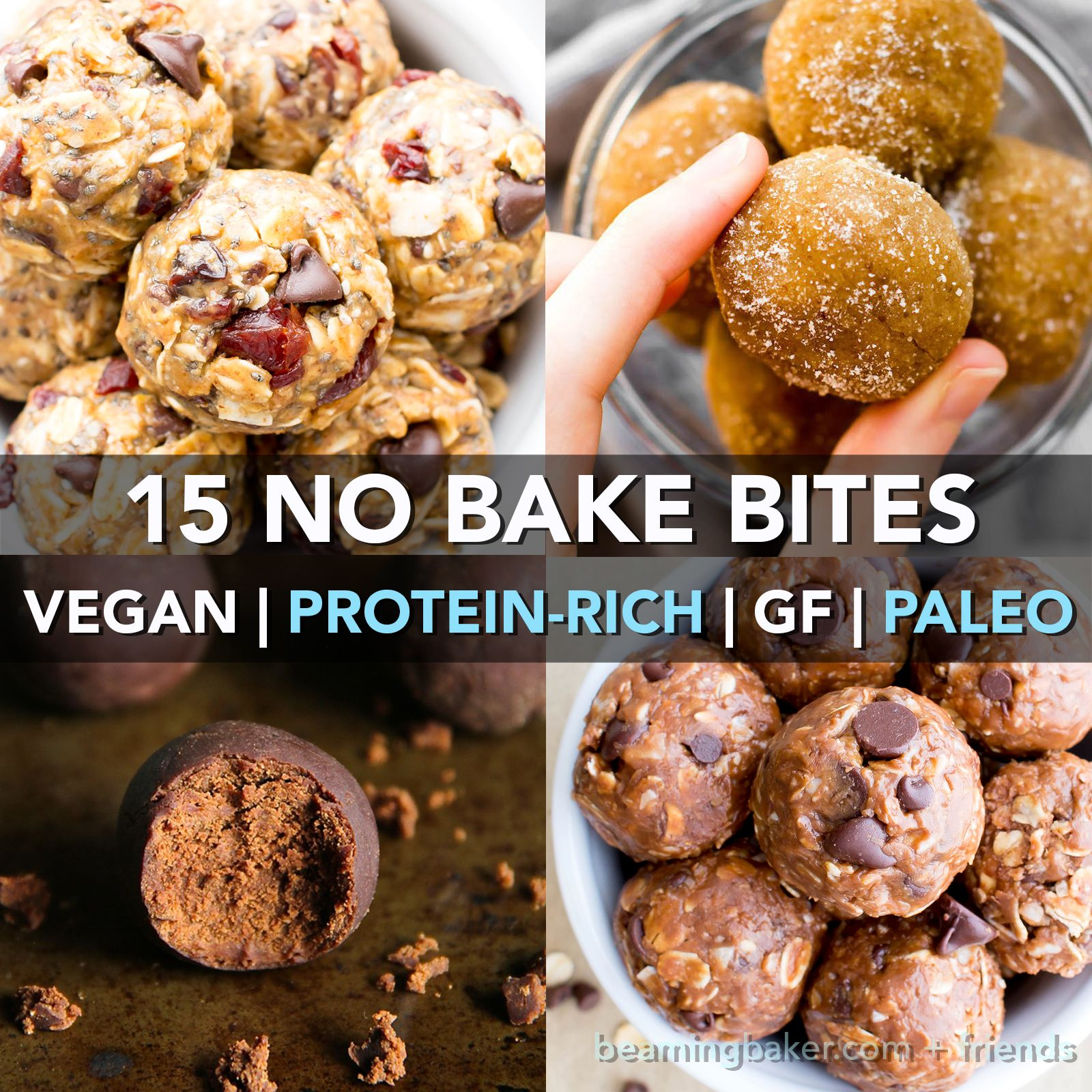 15 Healthy Protein Packed No Bake Energy Bite Recipes V Gf A