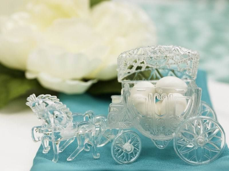 12 Pcs Clear Cinderella Carriages Coaches Wedding Party Favors