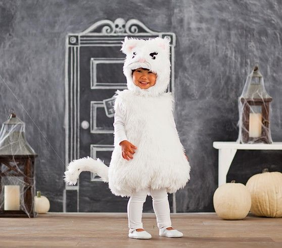Toddler White Kitty Costume | Pottery Barn Kids  sc 1 st  Pinterest & Toddler White Kitty Costume | Pottery Barn Kids | Halloween Garb ...