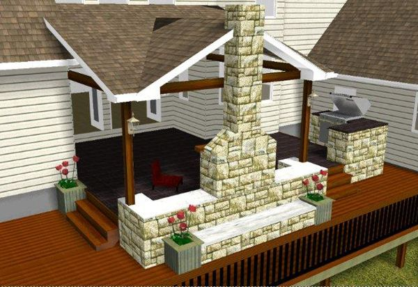 patio fireplace designs outside fireplace designs patio fireplace patio fireplace rendering - Patio Fireplace Designs