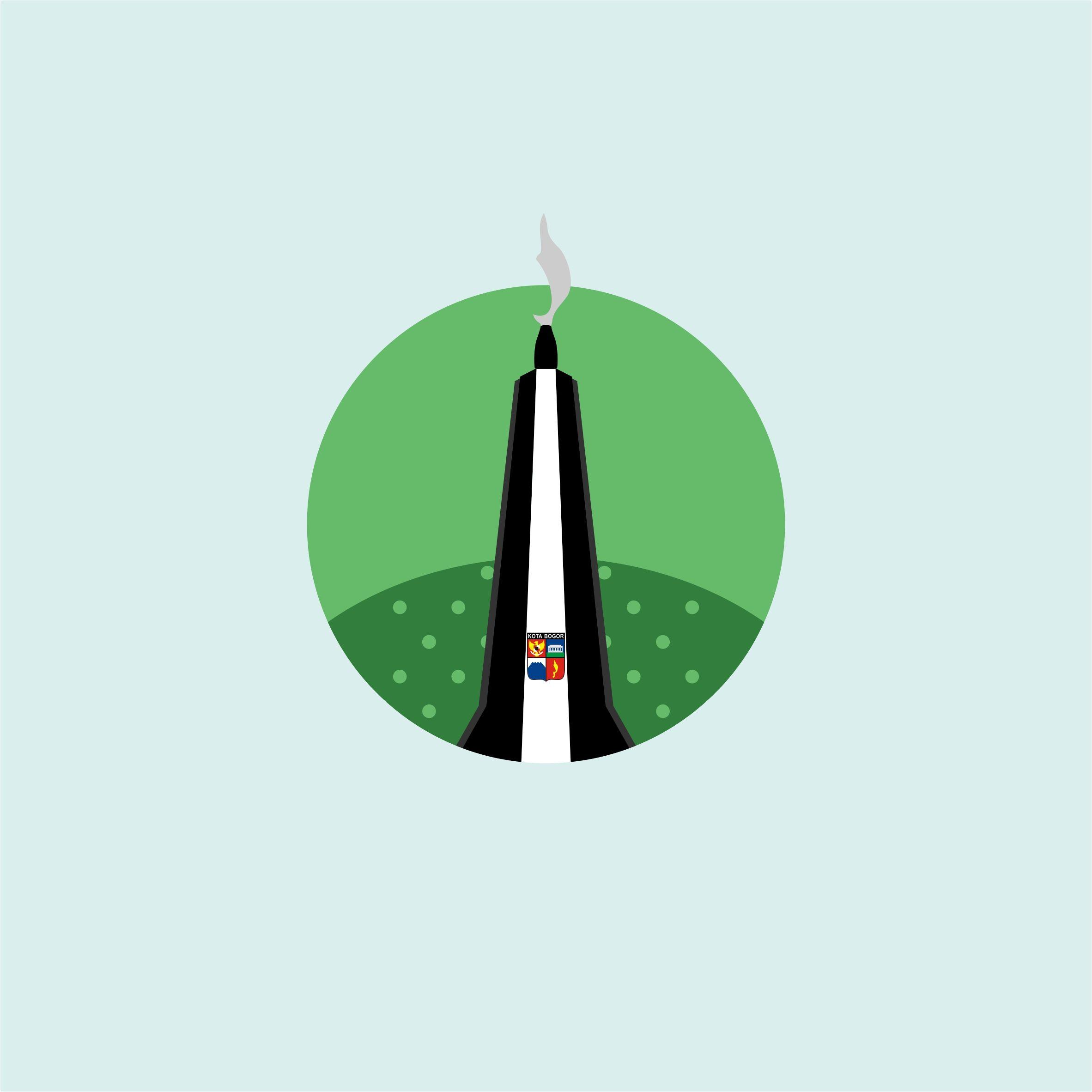 Tugu Kujang Dalam Vektor Kota Bogor Pinterest Logos