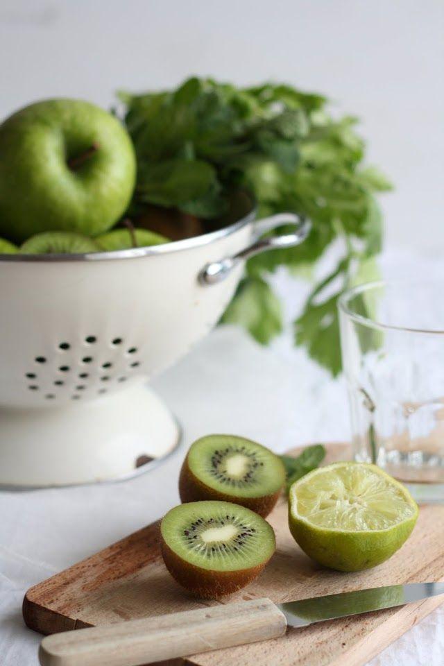 smoothie kiwi menthe pomme