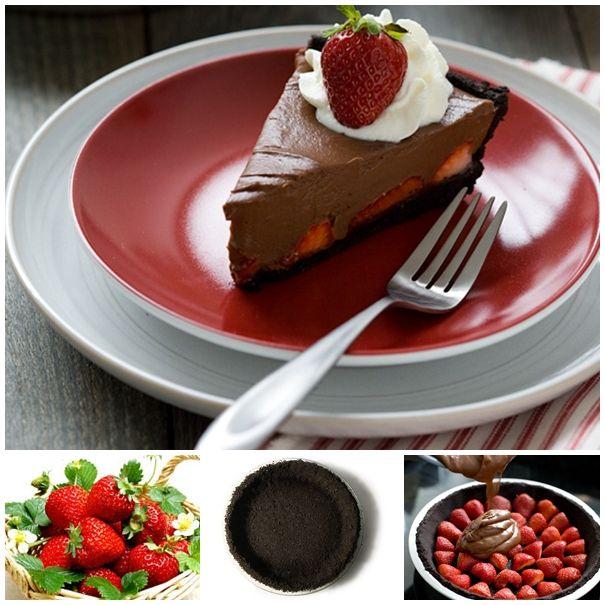 The Perfect DIY No Bake Strawberry Chocolate Pie