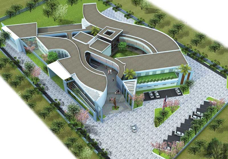 Displaying institutional design at polur arch college for College building design