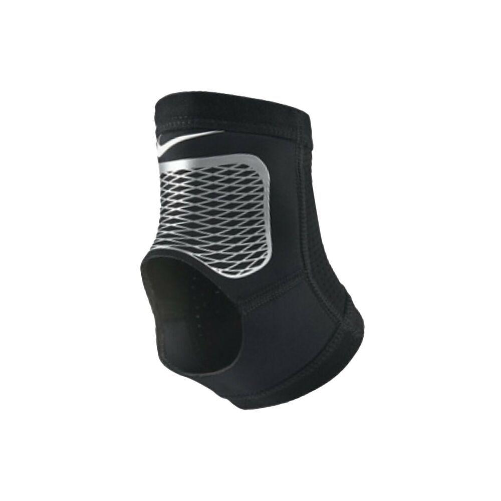 Nike Pro Hyperstrong Ankle Sleeve 2 0 Black Silver Nms73066lg Nib Nike Ankle Sleeve Nike Pros Baseball Arm Sleeves