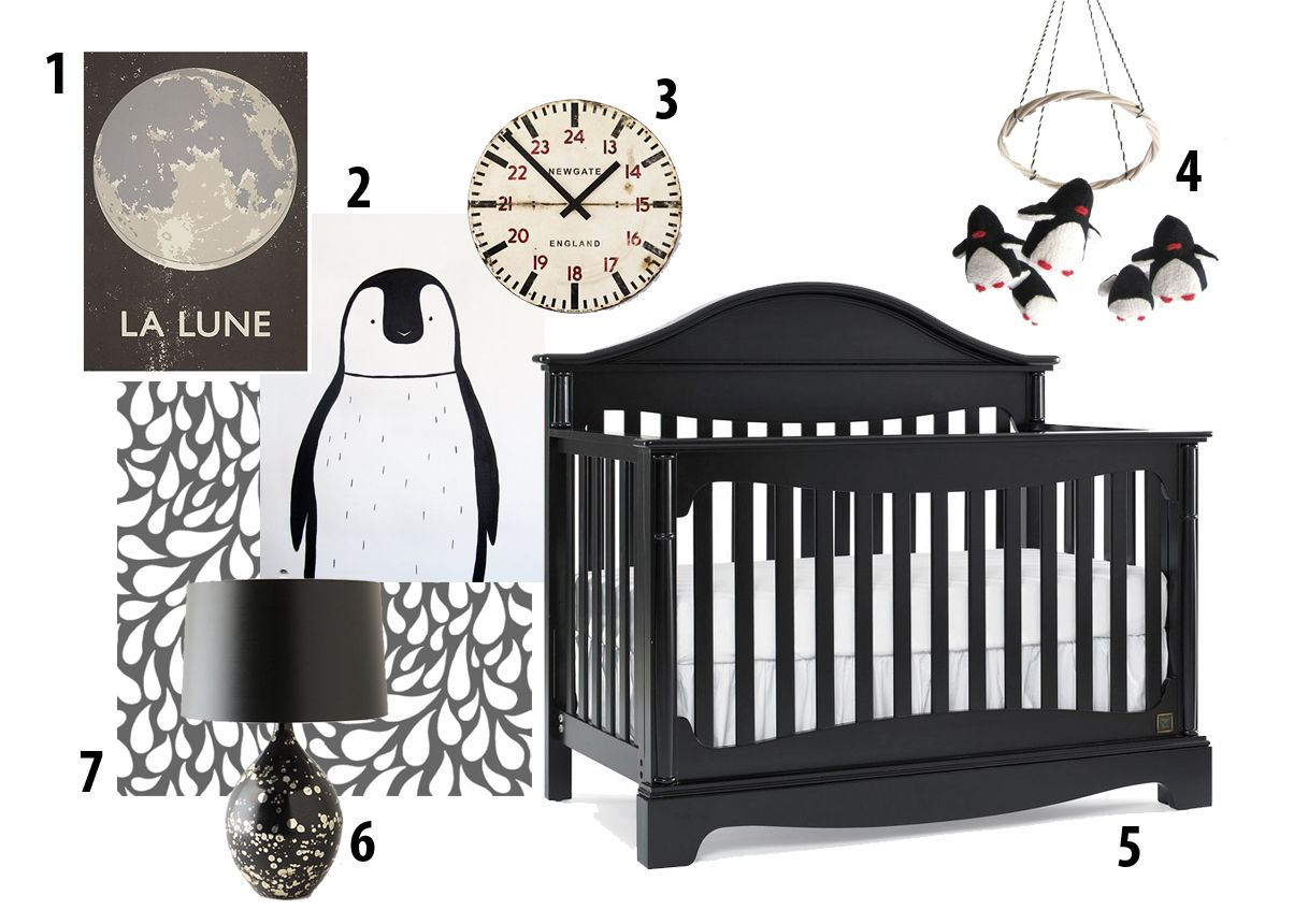 Baby cribs ireland - Black And White Nursery Penguins Pilgrimage Collection By Kathy Ireland Baby
