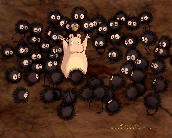L'image, Le Voyage de Chihiro, le hamster, Hayao Miyazaki: