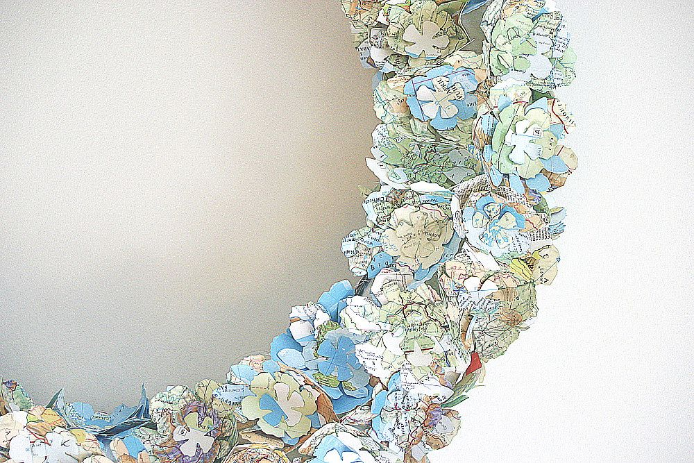 Map wreath