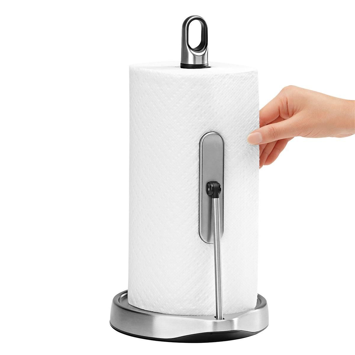 simplehuman Stainless Steel Tension Arm Paper Towel Holder | The Container Store #papertowelholders simplehuman Stainless Steel Tension Arm Paper Towel Holder | The Container Store #papertowelholders