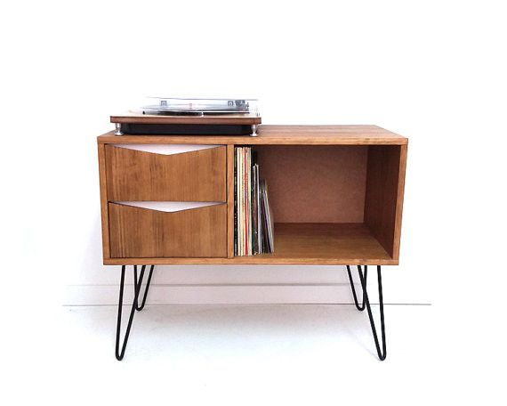 Sideboards Vinyl Record Storage Console Table Cabinet A Unique Product By Vintagehousecoruna On Dawanda Record Storage Vinyl Record Storage Vinyl Storage