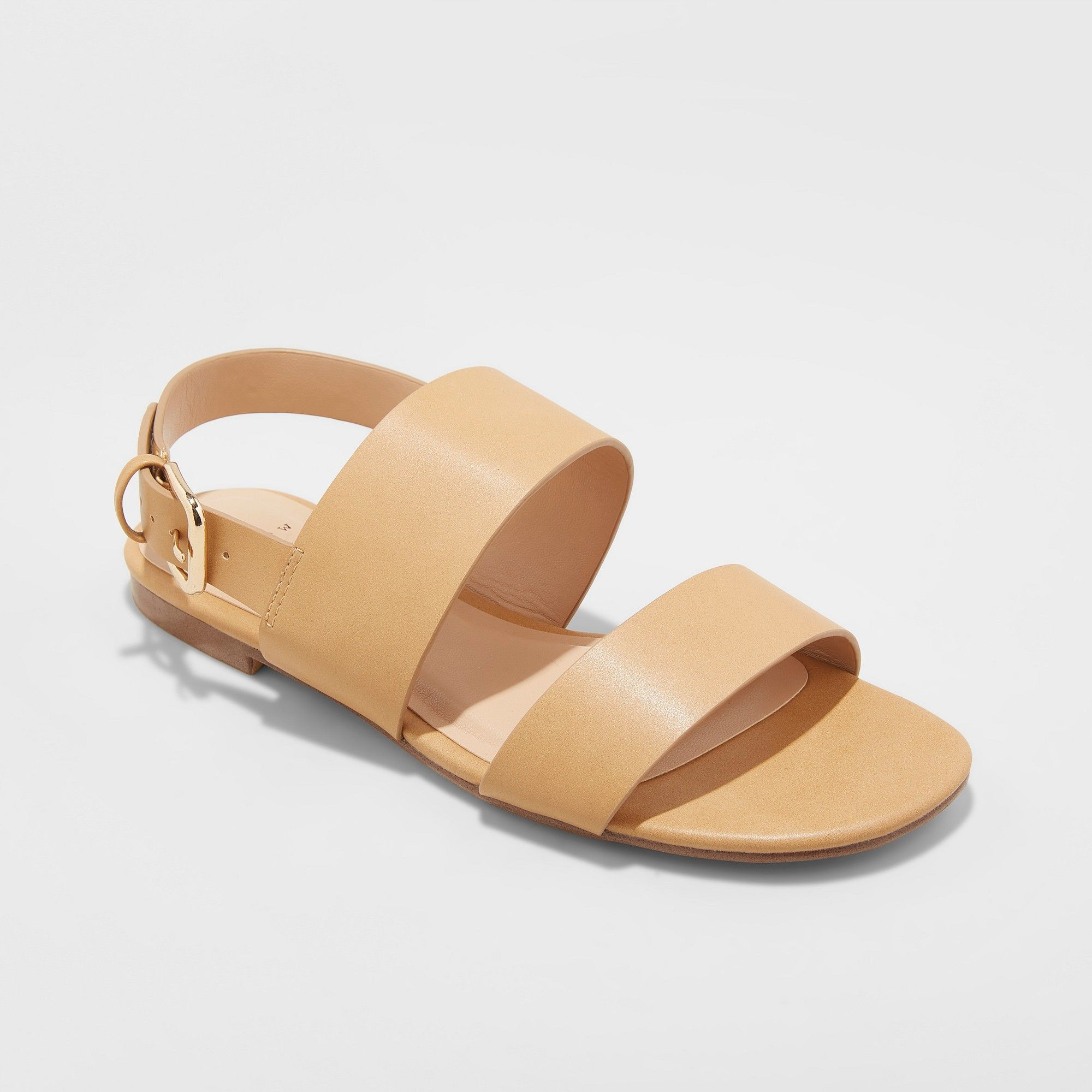 Band Buckle Slide Sandals
