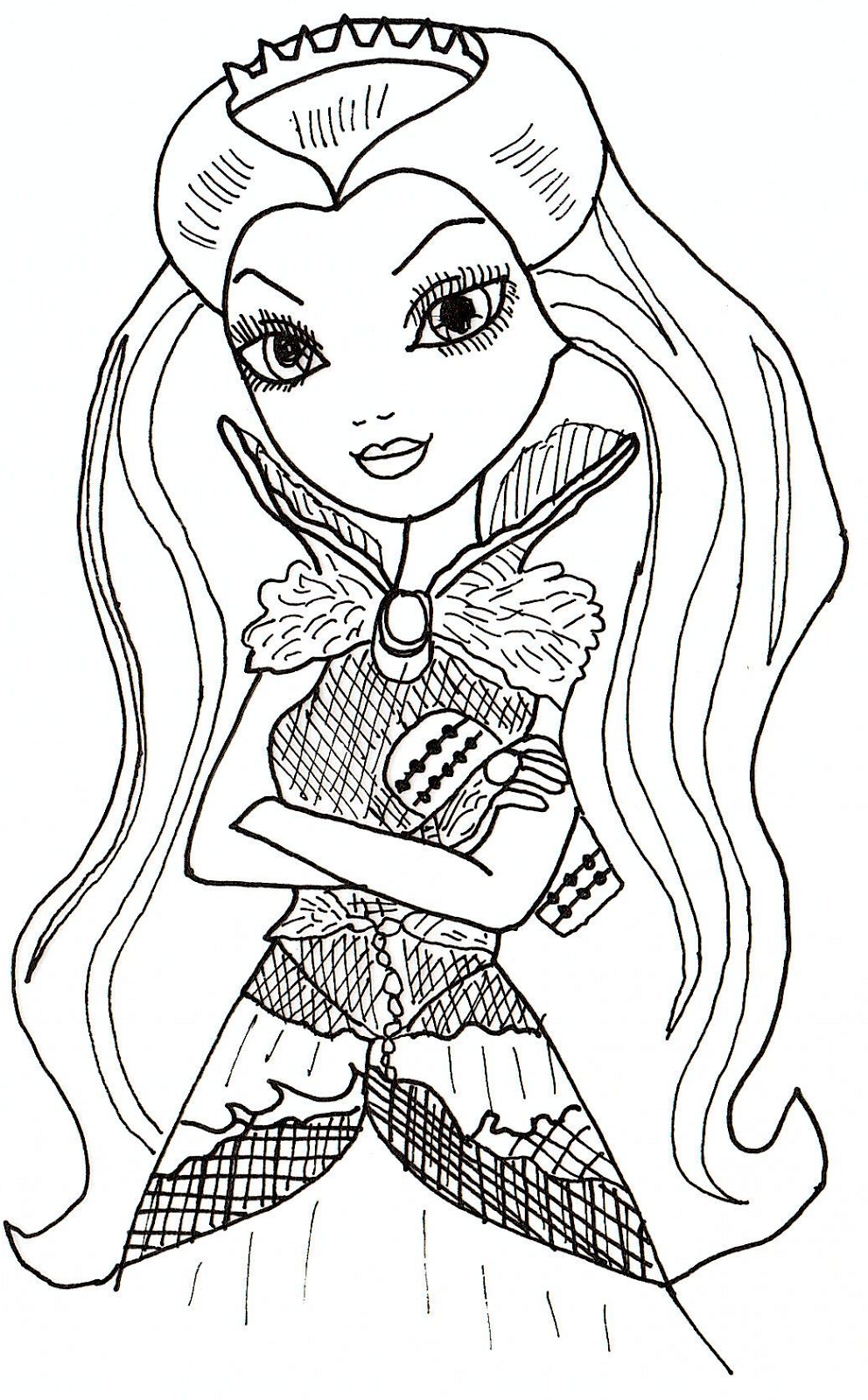 Ever After High Coloring Pages Raven Queen Free Printable
