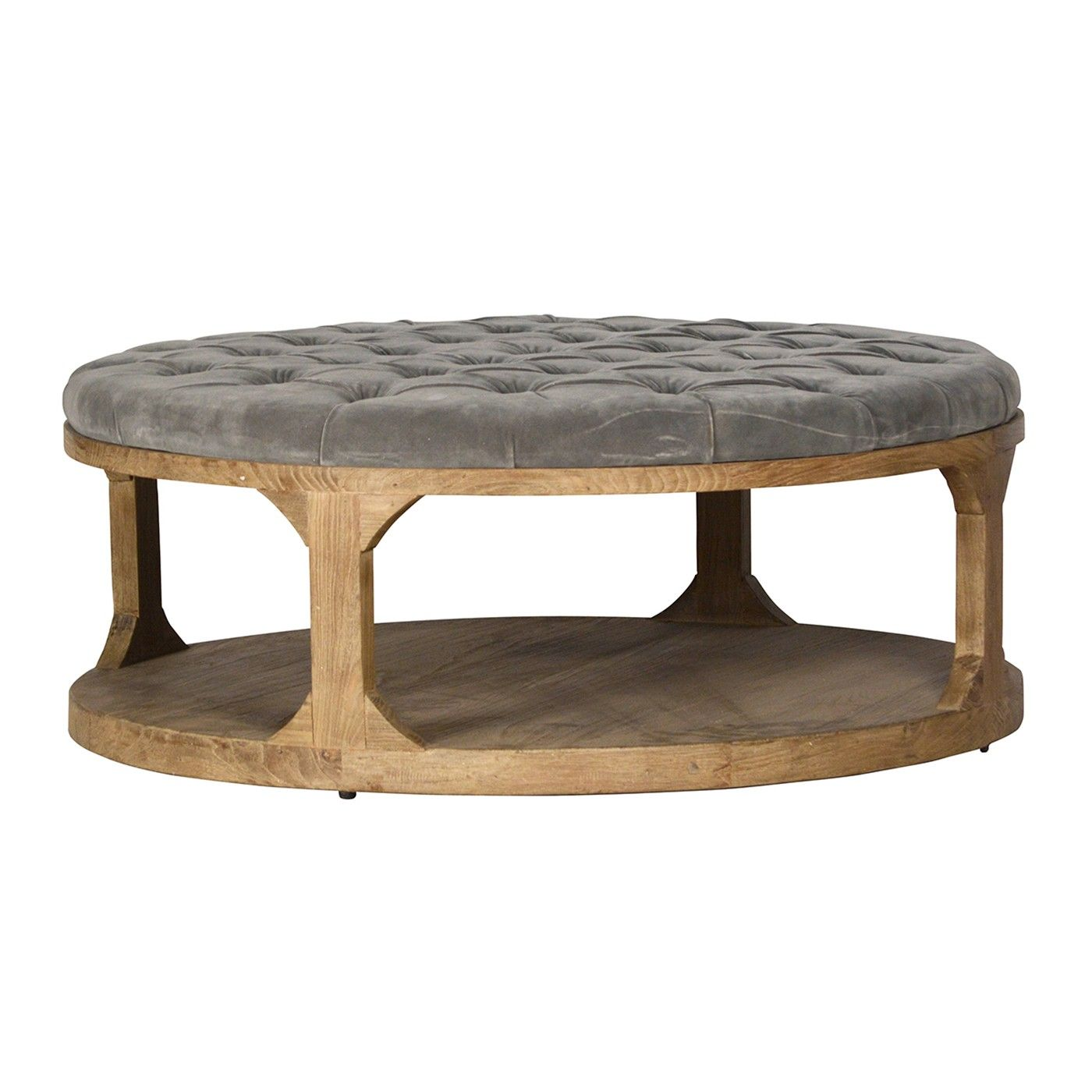 This Amazing Coffee Table Features A Tufted Fabric Top Length - Coffee table depth
