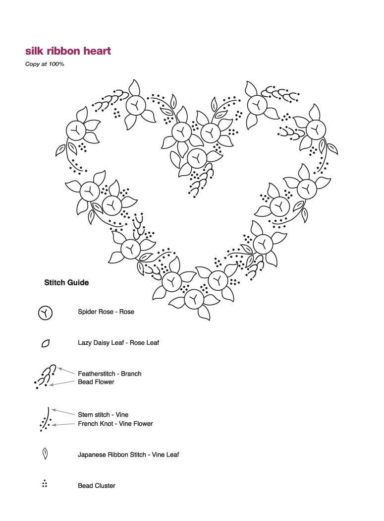 схема вышивки heart jf hearts