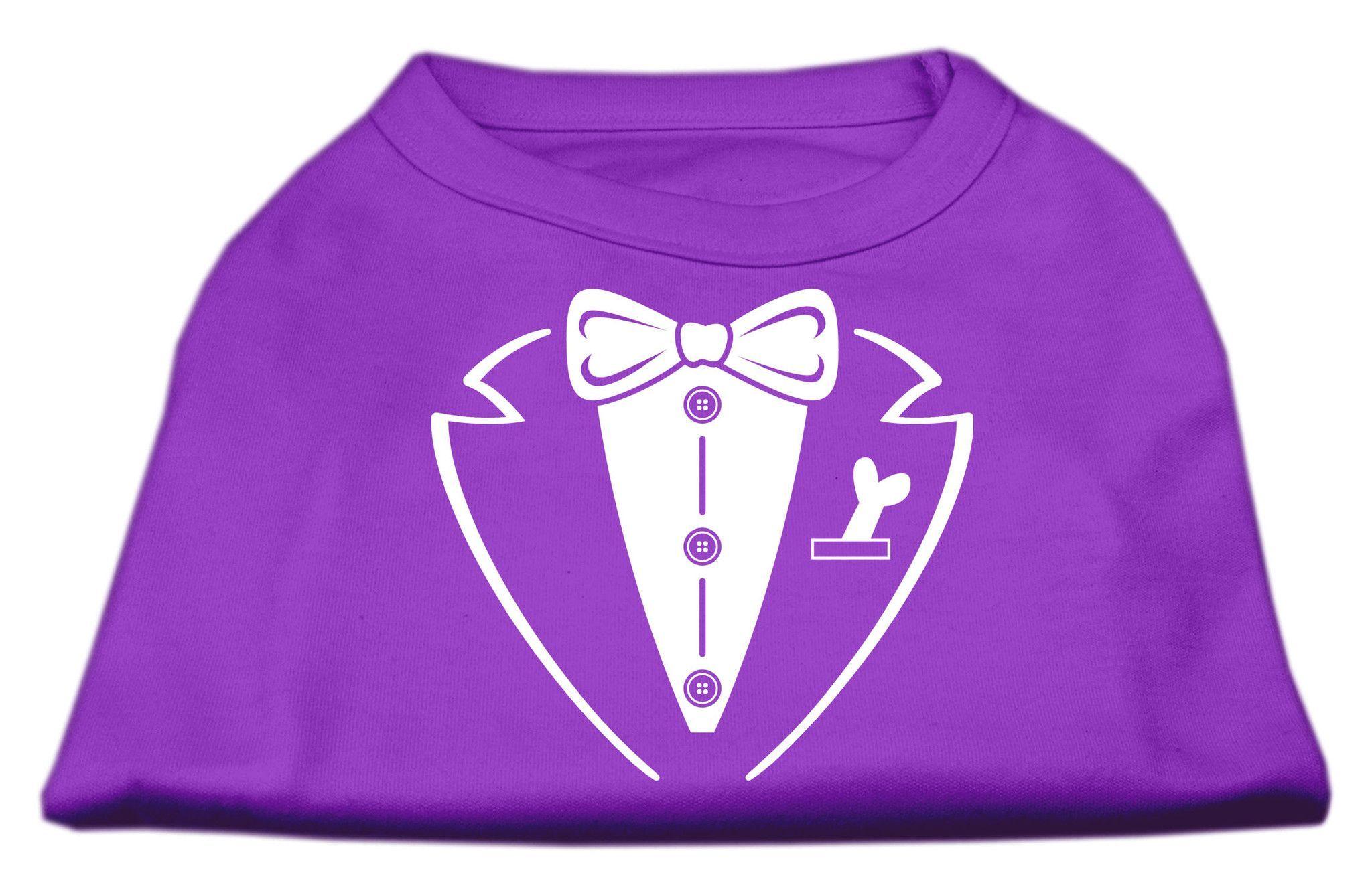 Tuxedo Screen Print Shirt Purple Lg (14)