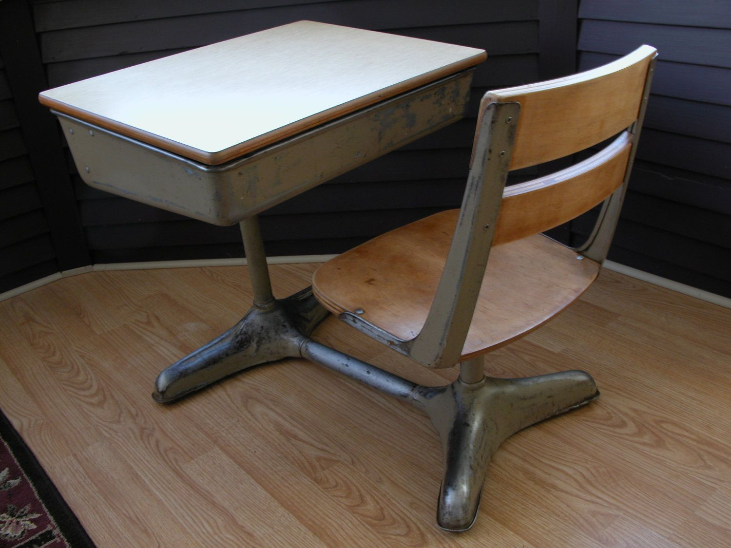 1940 S School Desk Chair 215 00 Via Etsy
