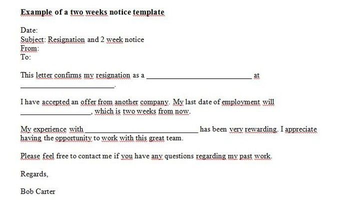 Need To Write Two Weeks Notice ItS Easy Use Our Two Weeks