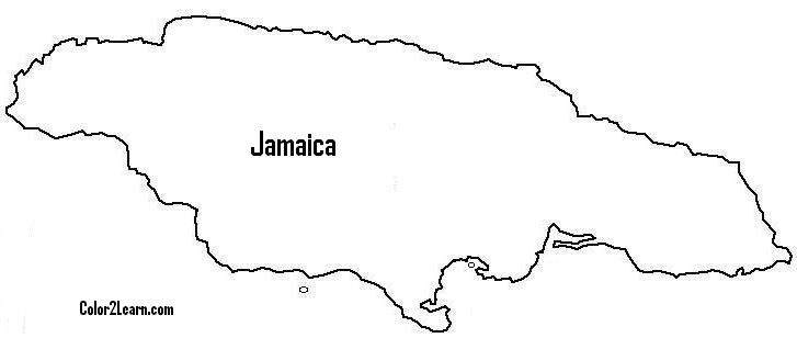 Coloring map of jamaica google search natalie pinterest for Jamaica flag coloring page