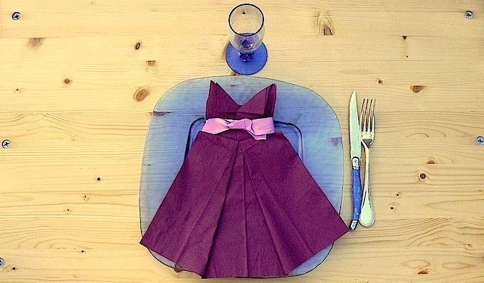 pliage serviette en papier robe de bal   best dress ideas