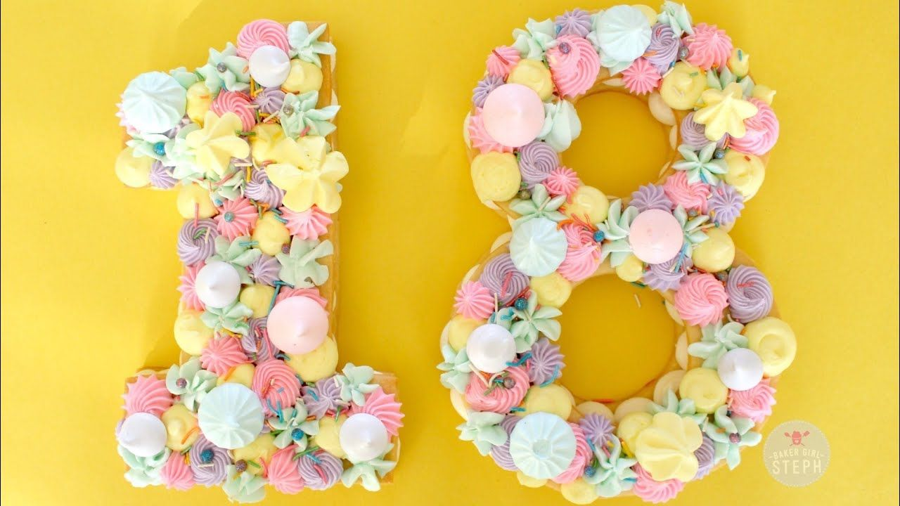 How to make a number cookie cake monogram cookie cake