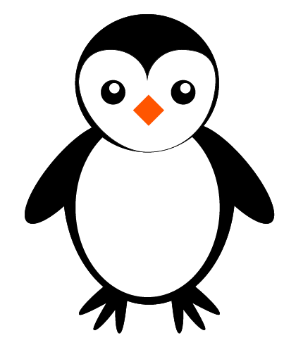 Penguin file used on one of the cupcake platter designs