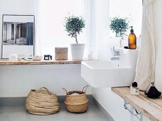 15 idées déco pour une jolie salle de bains | Salle de bain nature ...