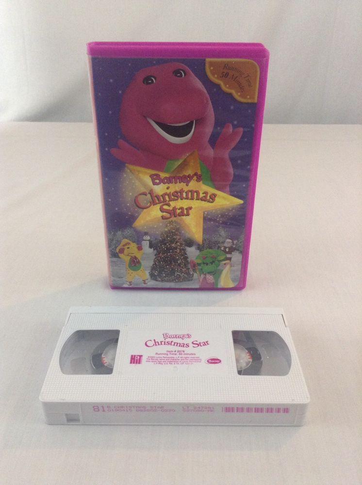 2002 Barney\'s The Dinosaur Christmas Star VHS Audio Tape in 2018 ...