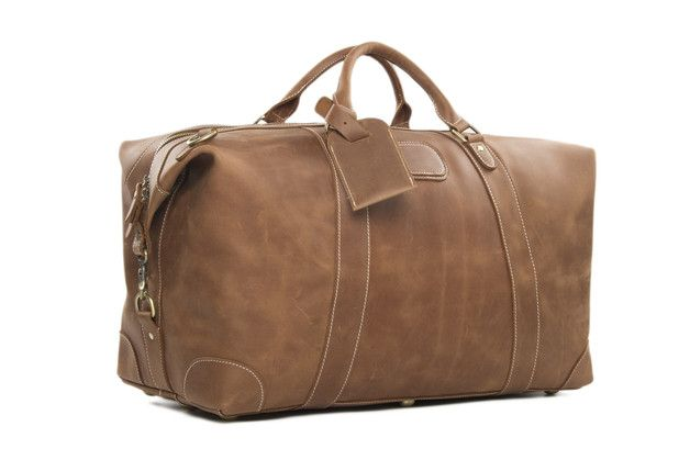 Dieses  Reisetasche aus Leder Sporttasche Weekend Bag Urlaub Ledertasche Handgepäck Retro Weekender echtes Leder braun ,ob auf Reisen, zum Sport oder bei anderen Freizeitaktivitäten stets...