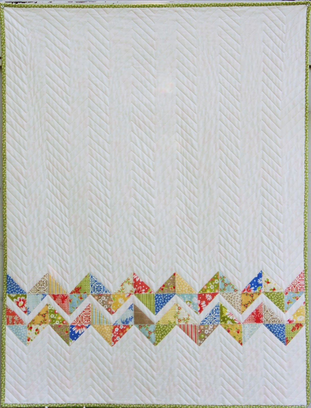 Here is my latest quilt and incidentally Bloggers Quilt Festival entry. This is a quilt I started making on a whim a couple weeks ago. W...