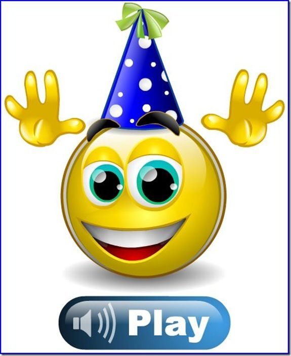 Happy Birthday Smiley Emoticons Animated Emoji Faces