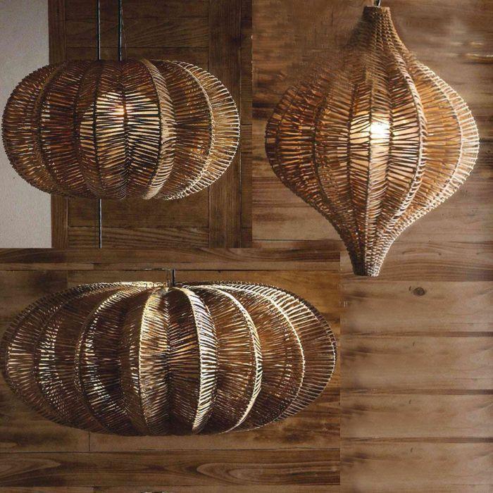 Wicker Hanging Lamps Modern Casual Roost | My Favorite Things ...