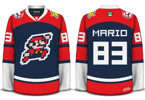 Geeky Jerseys Only Available For A Limted Time Mario Geek Fashion Hockey Clothes Hockey Jersey