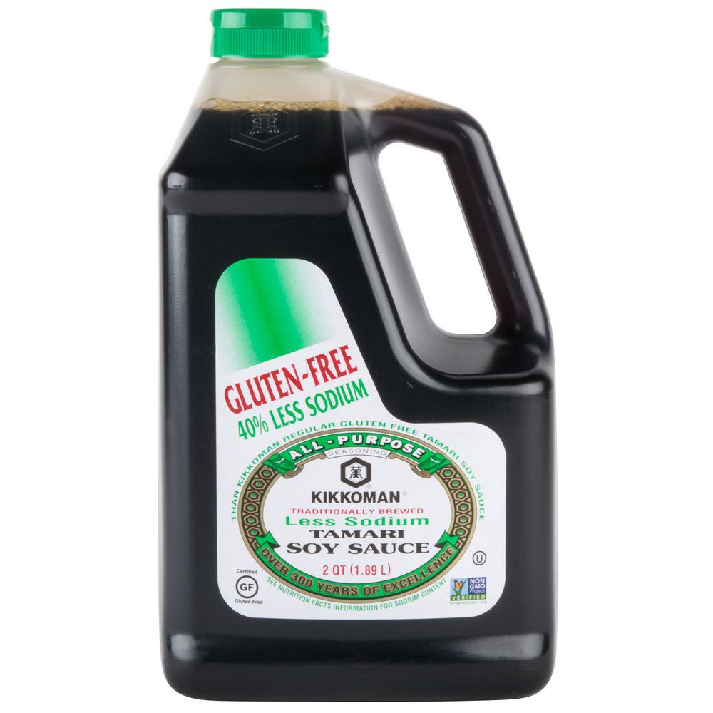Kikkoman 5 gallon less sodium gluten free tamari soy