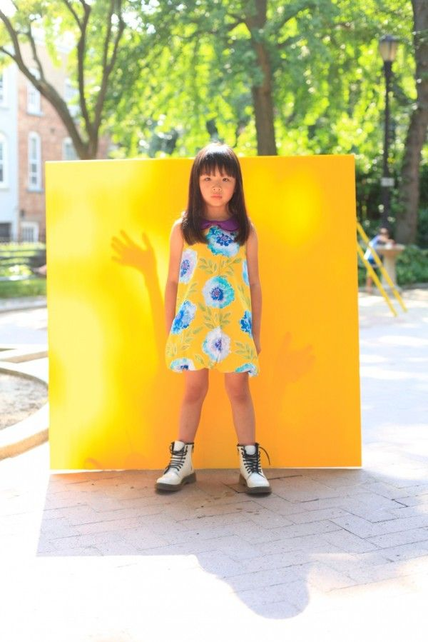 Bright colourful prints for girls from Aria for spring 2015 kidswear