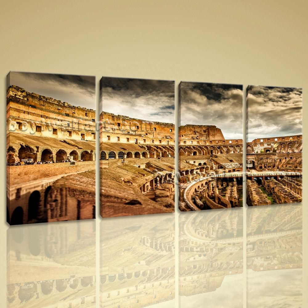 Home decor art   Piece Modern Wall Canvas Painting Rome Colosseum Building Home