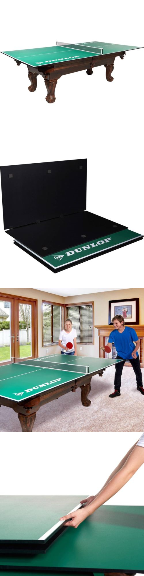 Tables 97075: Conversion Top Tennis Table Ping Pong Billiard Pool Game  Quick Set Portable New