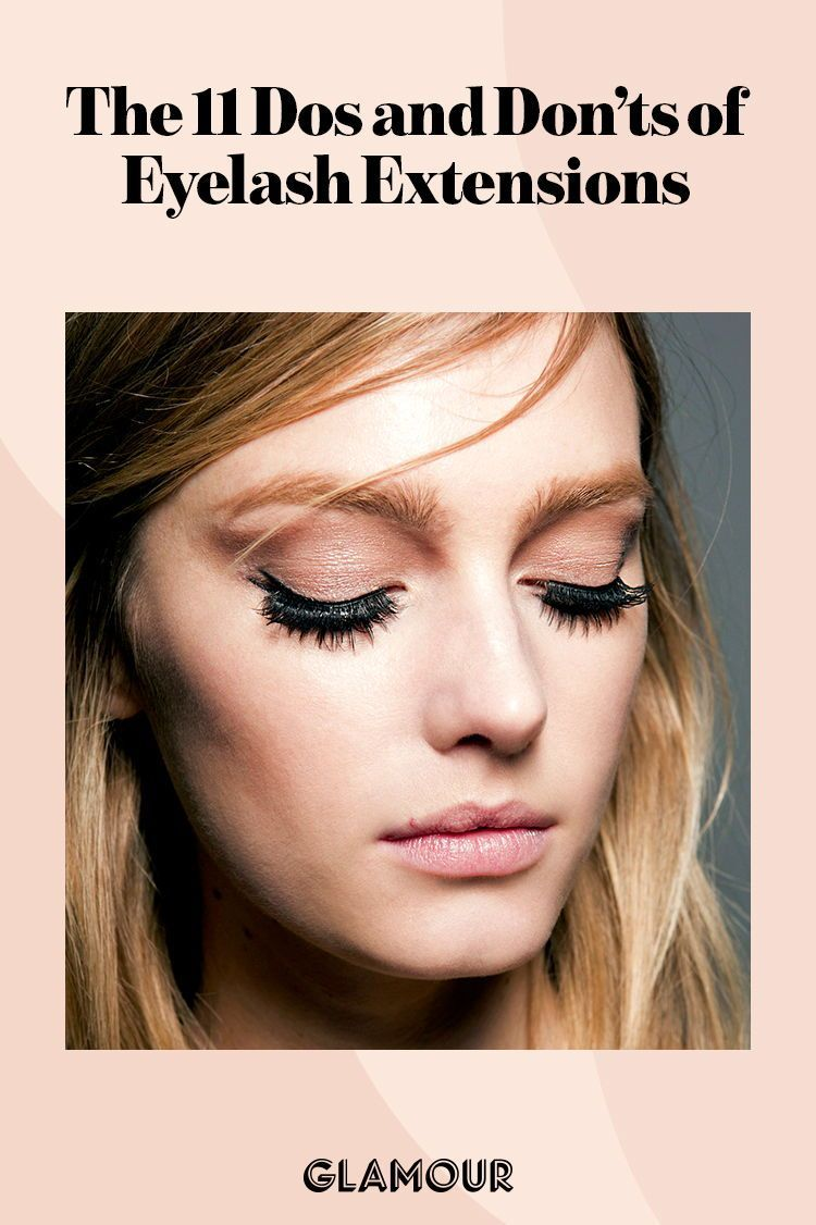 The Dos and Don't of eyelash extensions.