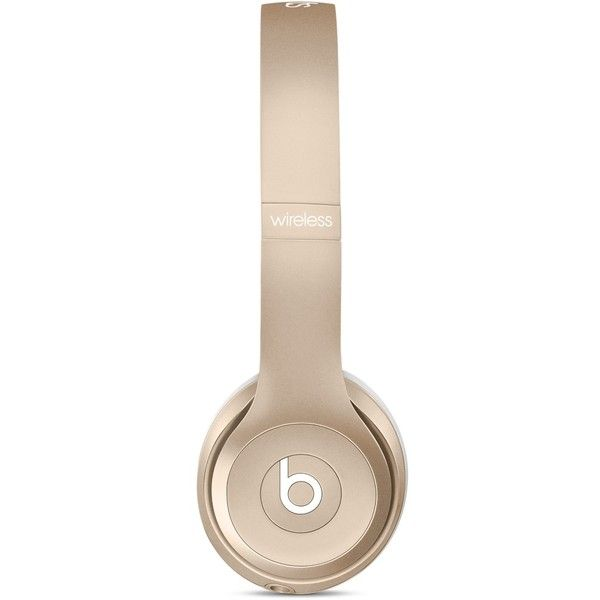 Beats Solo2 Wireless On-Ear Headphones Gold (921.620 COP) ❤ liked on Polyvore featuring accessories