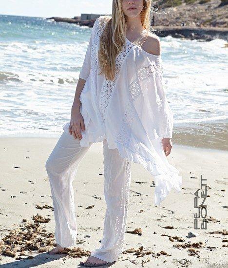 Pantalon ibicenco blanco