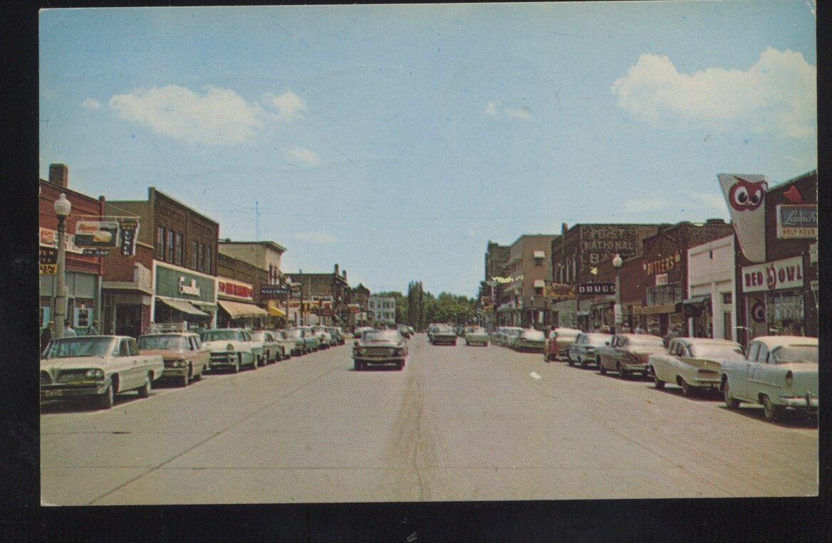Aitkin Minnesota Downtown Main Street Scene 1950's