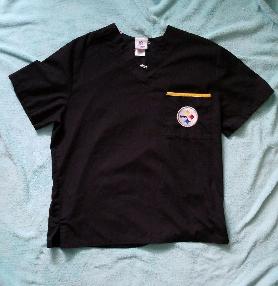 9e2c778c6bb NFL Pittsburgh Steelers scrub Shirt Top Uniform Small FootBall Nursing   Unbranded  NFL  football