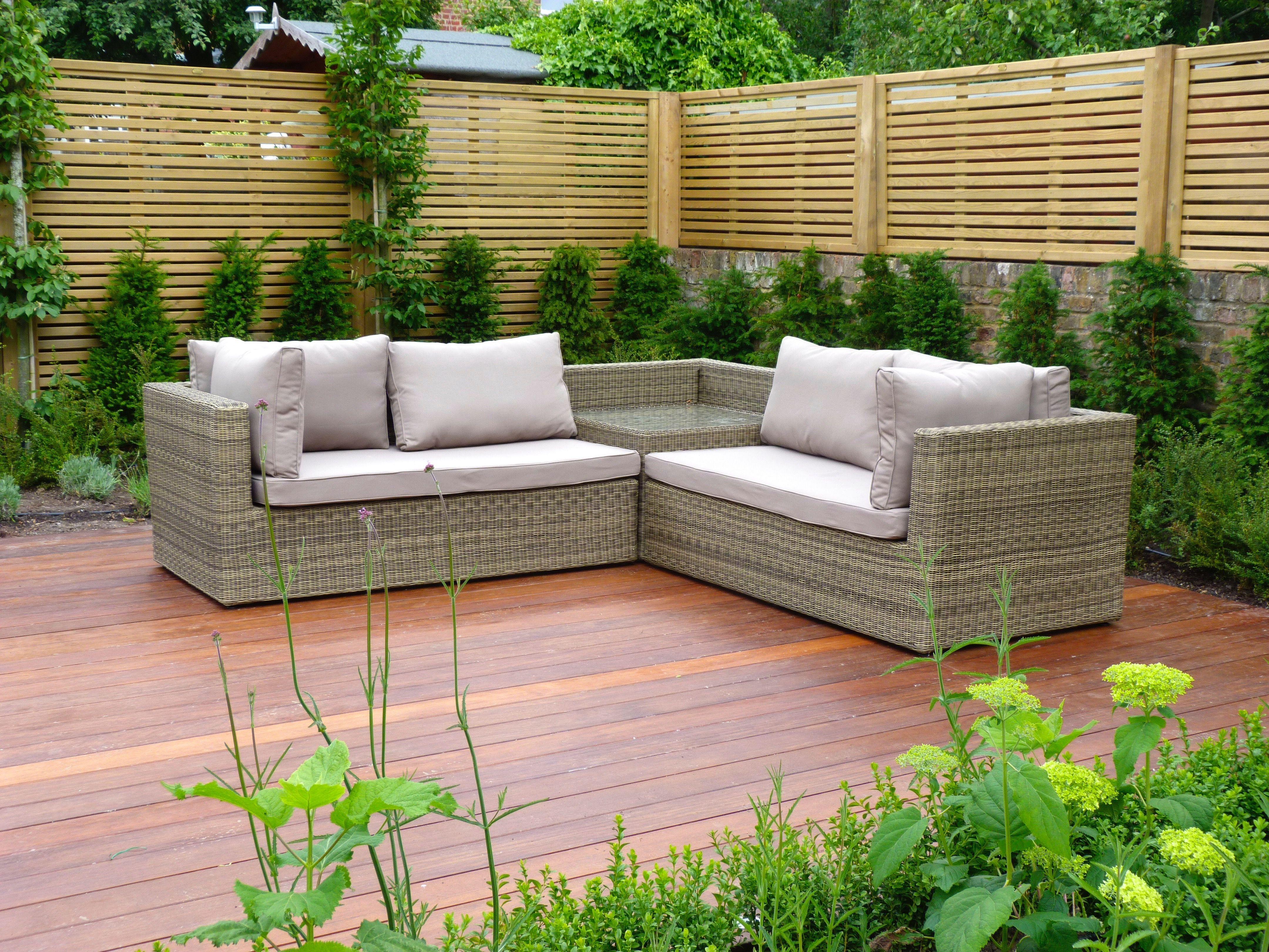 Garden sofas for a relaxing deck garden seating garden
